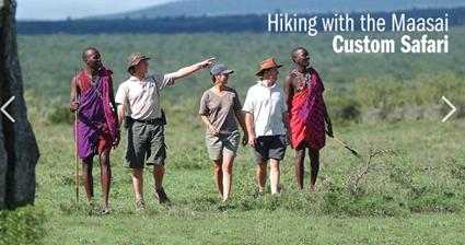 hiking in the Mara
